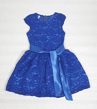 Нарядное Платье для девочки 122,128,134,140 электрик, фото 2