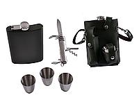 Подарочный набор с Флягой, рюмками и ножом, фото 1