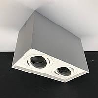 Подвійний поворотний світильник Feron ML 305-2 (Білий), фото 1