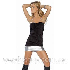 Притягательное мини-платье на бретельках черное