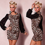 Модное леопардовое мини-платье, фото 2