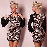 Модное леопардовое мини-платье, фото 3
