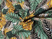 Лен Принт Листья банана