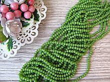 """""""Рондель"""" бусины 4*3 мм, оливковые, 145-148 шт. - 20 грн"""