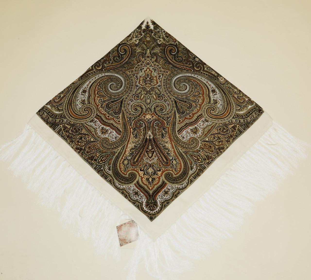 Хустка вовняна з тороками 120х120. турецька