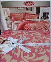 Коралловое постельное белье, Hobby poplin, Евро размер. Турция
