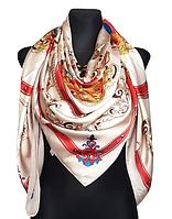 Шелковый платок Фелиция, 135х135 см, латте