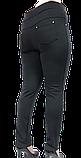 Брючні жіночі лосини на флісі великих розмірів, фото 4