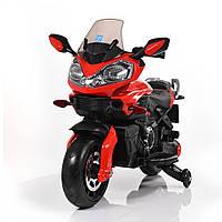 Мотоцикл M 3630 EL-3 2 мотори 25W, акум. 12V/7A, кол. EVA, шкіра, червоний.