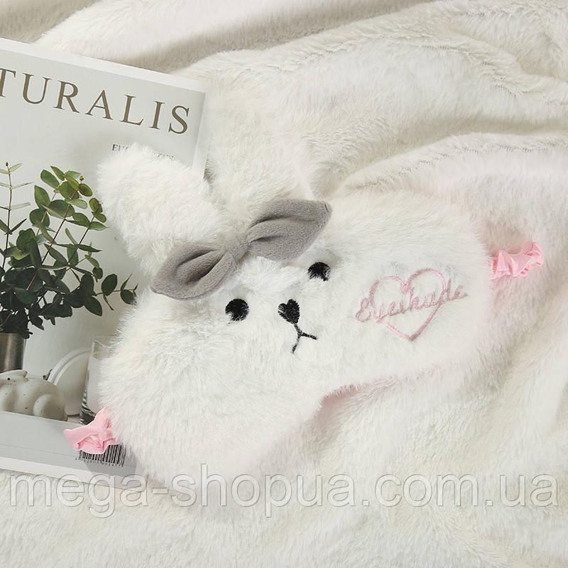"""Маска для сна с милыми животными """"Rabbit White"""". Удобная и милая маска для сна"""
