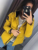 Женская весенняя куртка в расцветках цвет горчица