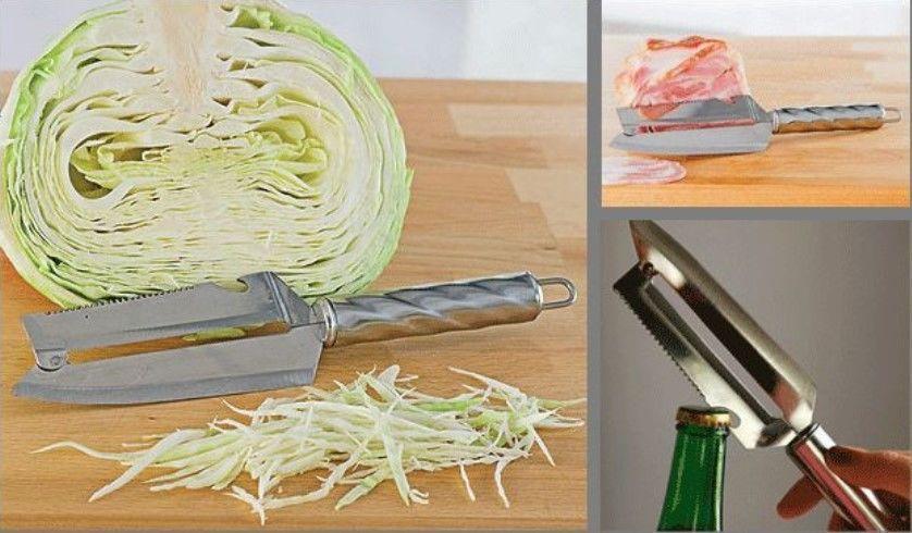 Нож для шинковки капусты, нарезки рыбы, овощей, фруктов «Рома&ra 8