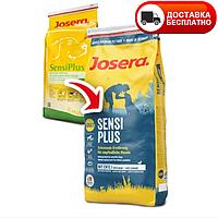 Сухой корм (Josera sensiplus) для взрослых собак склонных к алергии и проблемах с пищеварением,утка и рис15 кг, фото 1