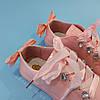 Рожеві кросівки з бантиком кеди з бантом лакові туфлі зі стрічками з супінатором на дівчинку, фото 4