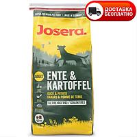 Сухой корм (Josera Ente & Kartoffel) с уткой и картофелем, без злаков для взрослых собак всех пород  15 кг, фото 1