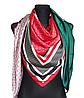 Шелковый платок Fashion Шарлотта 135*135 см изумрудный/алый