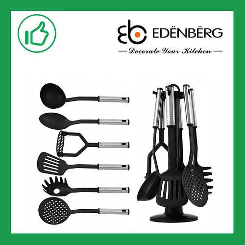 Кухонный набор из нейлона 7 предметов Edenberg Черный (EB-3606)