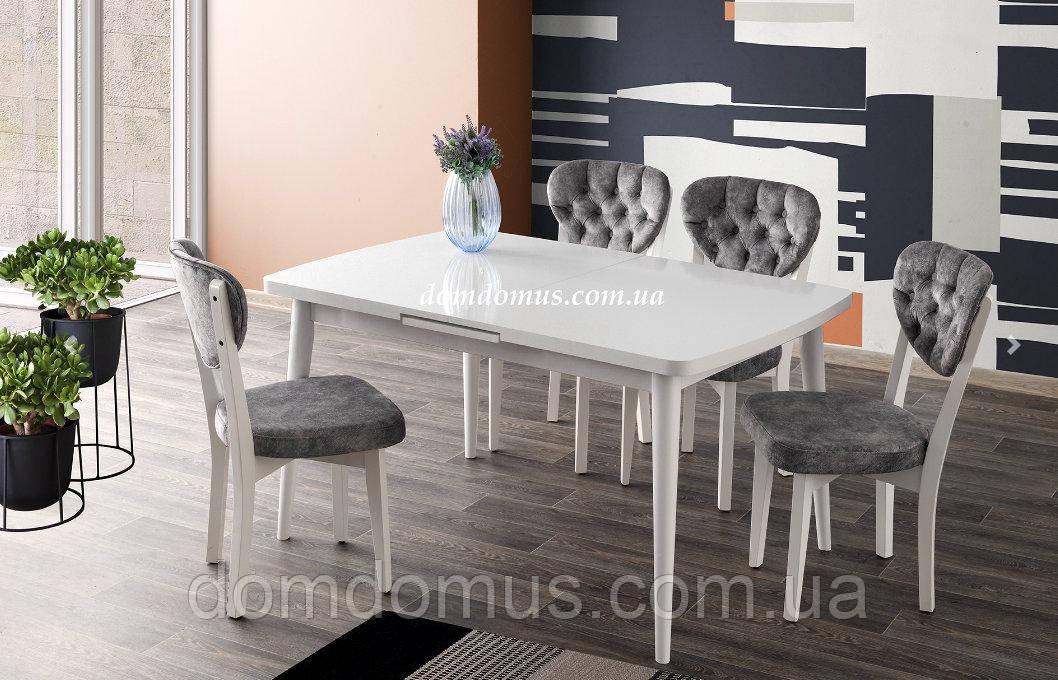 Набор обеденной мебели  мебели SILVA masa beyaz / GALA san. 140+30/90/75 Mobilgen, Турция, белый