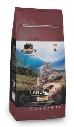 Landor (Ландор) Sensitive Cat сухой корм для кошек с чувствительным пищеварением