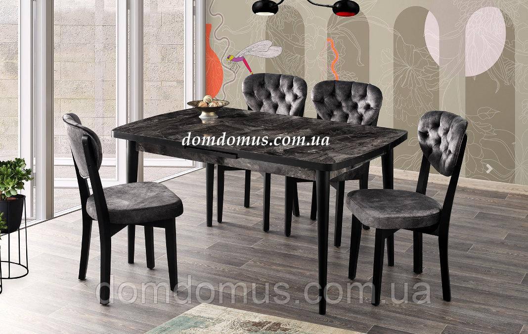 Набір обідній меблів меблів SILVA masa beyaz / GALA san. 140+30/90/75 Mobilgen, Туреччина, графіт
