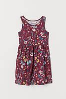 Детское летнее платье в цветы для девочки
