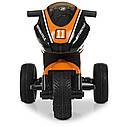 Дитячий електромобіль Мотоцикл M 4135 EL-7, колеса EVA, музика, світло, шкіряне сидіння, помаранчевий, фото 2