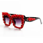 Сонцезахисні окуляри жіночі сонцезахисні окуляри інкрустовані маленькими трояндами