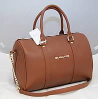 Женская сумка саквояж Mісhаеl Коrs, светло-коричневая в стиле Майкл Корс MK