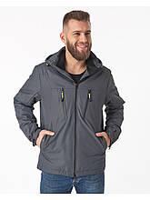 Чоловіча демісезонна куртка Riccardo V-1 Сіра