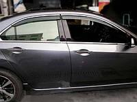 Дефлектор окон Nissan Juke 2010 c Хром Молдингом