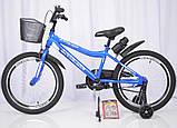 Детский двухколесный велосипед INTENSE N-200 голубой 20 дюймов, фото 2
