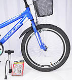 Детский двухколесный велосипед INTENSE N-200 голубой 20 дюймов, фото 4