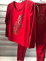"""Спортивный костюм женский с бусинами, размеры S-XL (5цв) """"COCO"""" купить недорого от прямого поставщика, фото 1"""