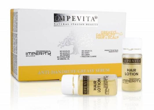 Сыворотка Impevita Imperity против перхоти и жирности волос (10шт по 10мл)