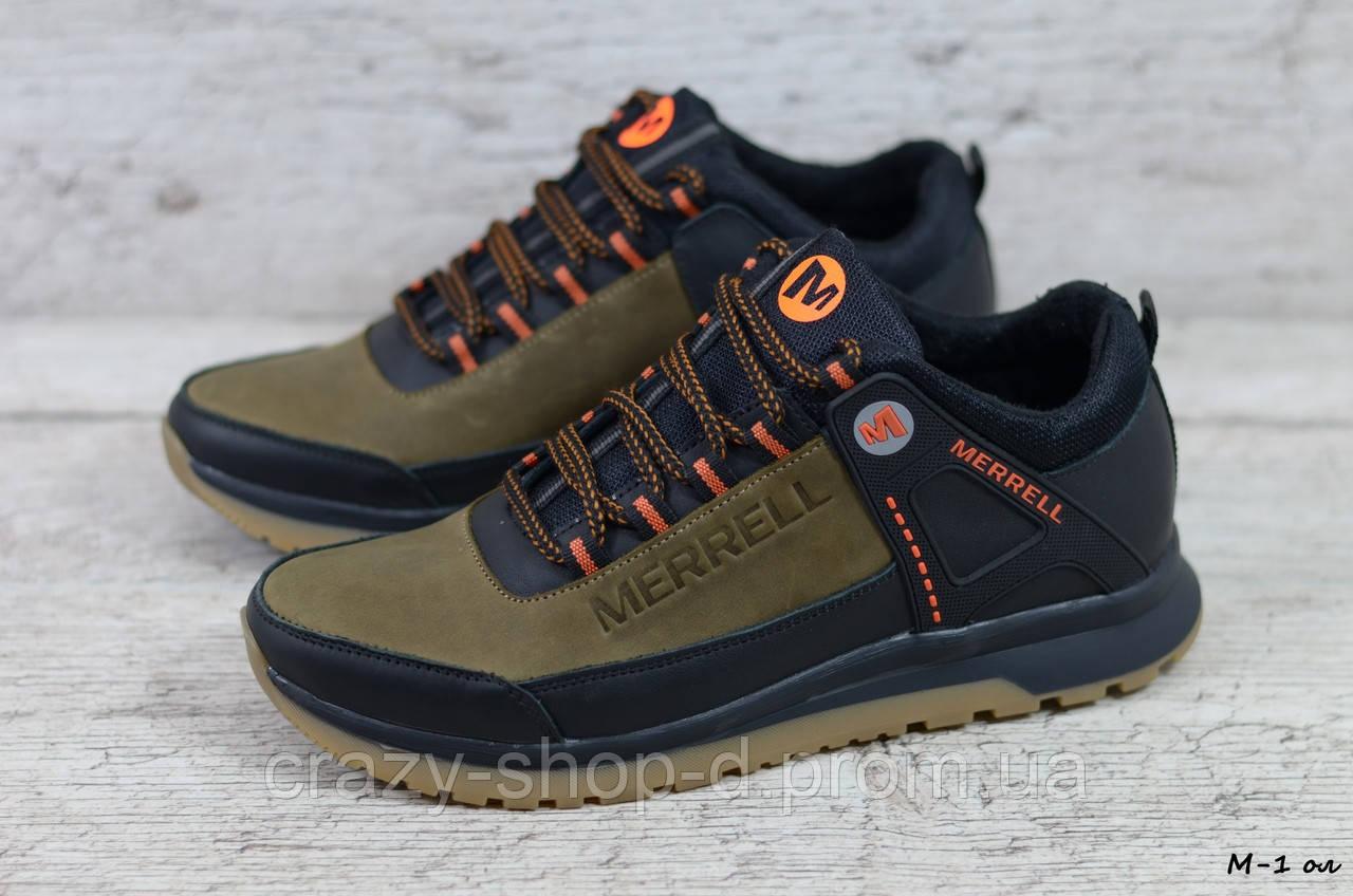 Мужские кожаные кроссовки Merrell (Реплика) (Код: М-1 ол  ) ►Размеры [40,41,42,43,44,45]
