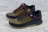 Мужские кожаные кроссовки Merrell (Реплика) (Код: М-1 ол  ) ►Размеры [40,41,42,43,44,45], фото 1