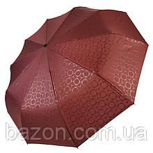 Автоматический зонт Три слона на 10 спиц, бордовый цвет, 333-3