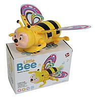 Музыкальная развивающая игрушка насекомое DL-320 Пчелка,свет,звук,в коробке 16*10*8см