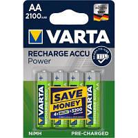 Аккумулятор Varta AA Long Life Accu 2100mAh * 4 NI-MH (READY 2 USE) (56706101404)