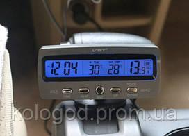 Автомобільні Годинник З Термометром І Вольтметром VST 7045V