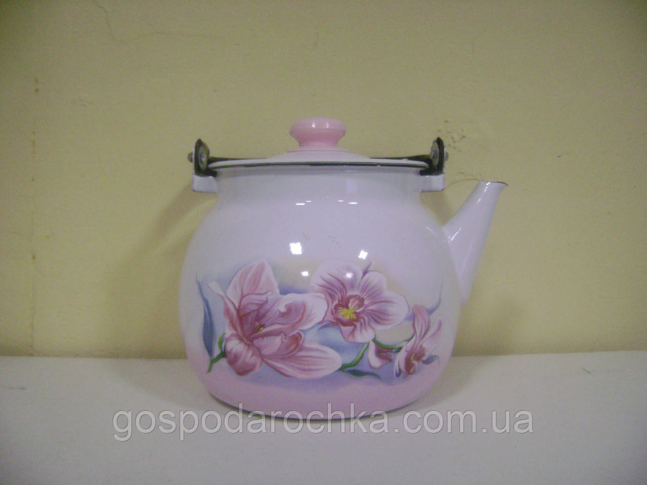 Емальований чайник 3,5 л Орхідея Бузкова Idilia 27130 Epos Новомосковськ