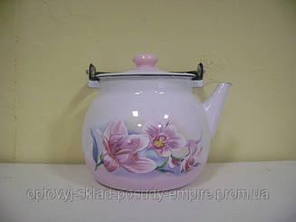 Эмалированный чайник 3,5 л Орхидея Сиреневая  Idilia 27130 Epos Новомосковск