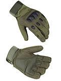 Спортивні захисні рукавички велоперчатки і мотоперчатки, фото 4