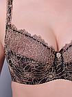 Бюстгальтер Diorella чёрно-коричневый 80D 3592D, фото 4