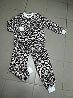 Махровая теплая детская пижама от производителя на 3 - 8 лет