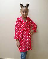 Детский махровый теплый халат велсофт 4, 5, 6 лет