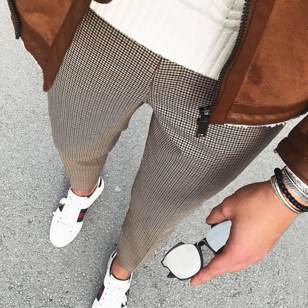 Мужские брюки в мелкую клетку турецкие СММ