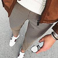 Мужские брюки в мелкую клетку турецкие СММ, фото 1