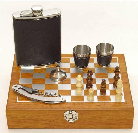 Мужской подарочный набор с флягой и шахматами, фото 2