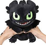 "Dreamworks Dragons как приручить дракона Мягкая игрушка Беззубик 6052481 Squeeze Roar Toothless 11"" Plush, фото 2"